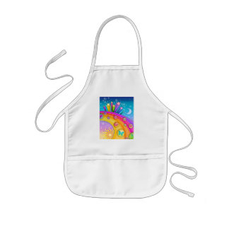 Baby Bib - Retro Pop Art Sixties Sky Kids' Apron