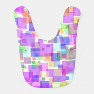 Baby Bib - Squarely Bubble Gum