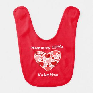 Baby Bib-Valentine Hearts Baby Bib