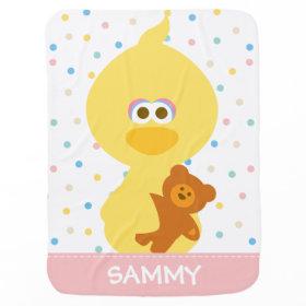 Baby Big Bird and Teddy Stroller Blanket