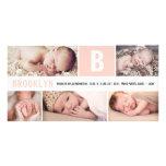 Baby Big Initial Multi Photo Birth Announcement Photo Card