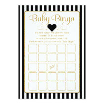 Baby Bingo Black Gold Baby Shower Game Cards