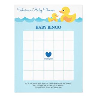 Baby Bingo Rubber Duck Baby Shower Game Letterhead