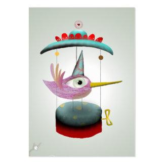 Baby bird carrousel musical lighting business card