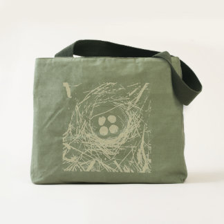 Baby Bird Eggs in Nest Sturdy Canvas Totebag Tote