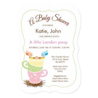 Baby Bird    Girl Baby Shower Invitation