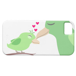 Baby Bird & Mother with Hearts iPhone SE/5/5s Case