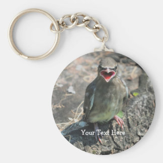 Baby Bird Nature Photography Keychain