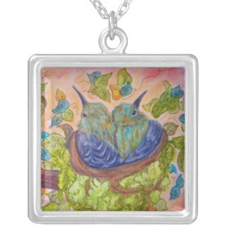 baby bird necklace square
