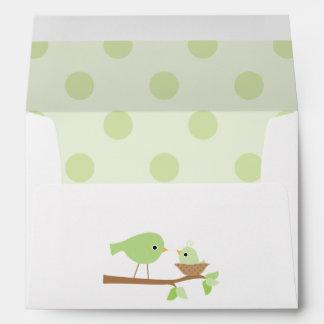 Baby Bird s Nest Baby Shower Envelopes