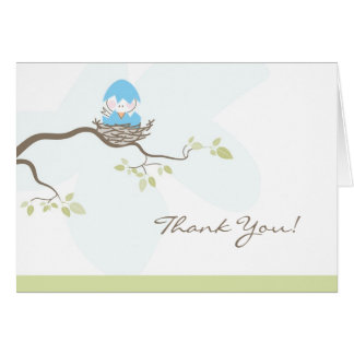 Baby Bird Thank You Card