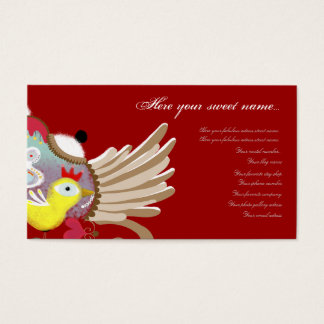 Baby bird wings shield elegance gold business card
