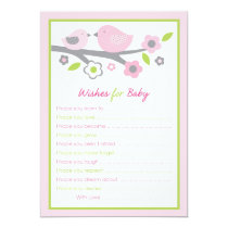 Baby Bird Wishes for Baby Advice Cards