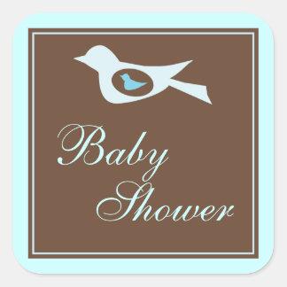 Baby Birdie in Blue Baby Shower Sticker