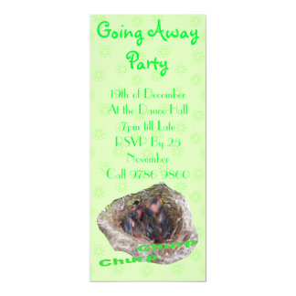 Baby Birds 4x9.25 Paper Invitation Card