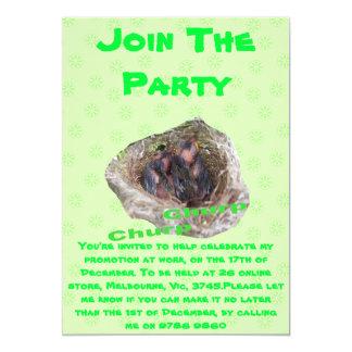 Baby Birds 5x7 Paper Invitation Card