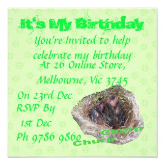 Baby Birds Invitation