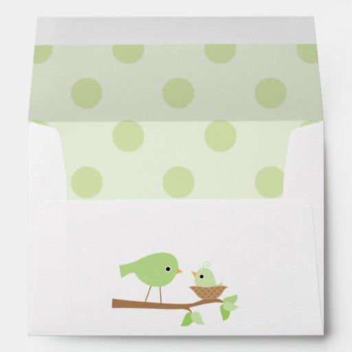 baby bird 39 s nest baby shower envelopes zazzle