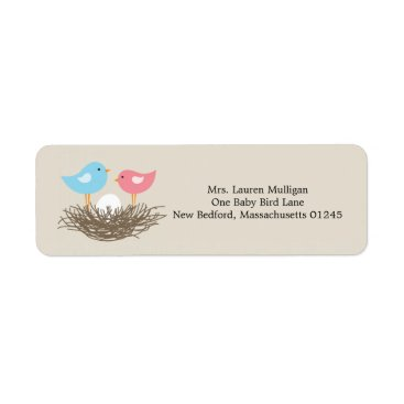 baby,or,expecting Baby Bird's Nest Baby Shower Label