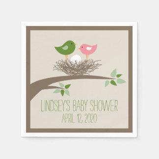 Baby Bird's Nest   Baby Shower Napkin