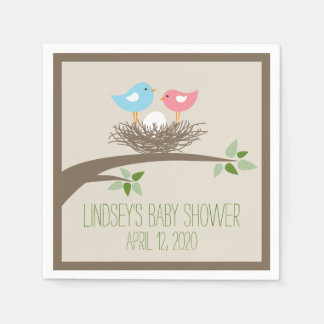 Baby Bird's Nest | Baby Shower Paper Napkin