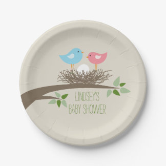 Baby Bird's Nest   Baby Shower Paper Plate