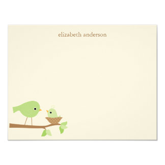 Baby Bird's Nest Baby Shower Thank You Card