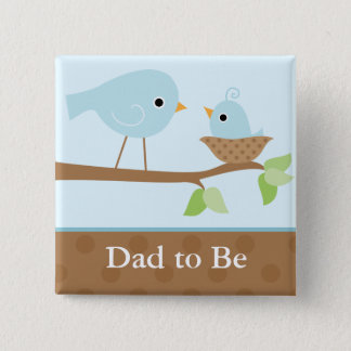 Baby Bird's Nest (blue) Pinback Button