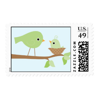 Baby Bird's Nest (green) Postage