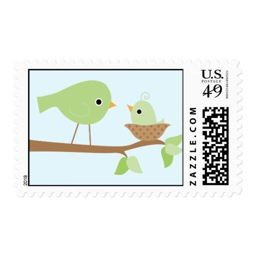 Baby Bird's Nest (green) Postage