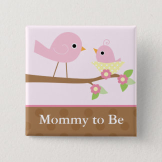 Baby Bird's Nest (pink) Button
