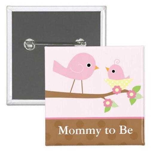 Baby Bird's Nest (pink) Buttons