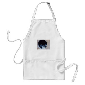 Baby Birds Peeking their head out of nest Adult Apron
