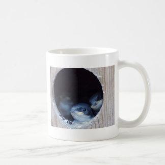 Baby Birds Peeking their head out of nest Coffee Mug