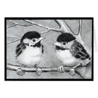 BABY BIRDS TALKING/TWEETING CARD