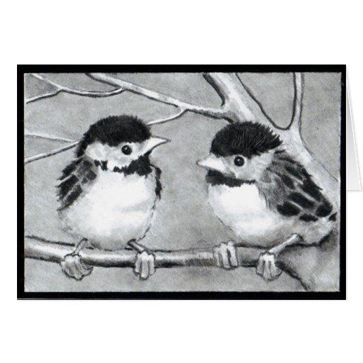 BABY BIRDS TALKING/TWEETING GREETING CARD