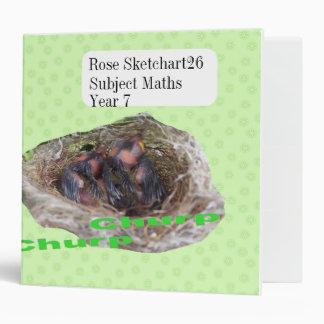 Baby Birds Vinyl Binder