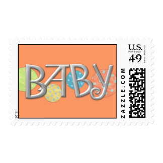Baby Birth Announcement Matching Stamps