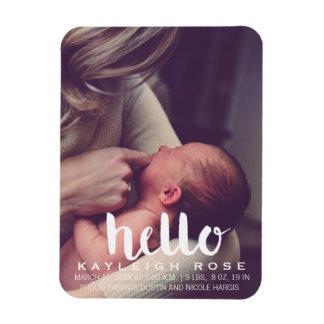 Baby Birth Announcement Photo Magnet