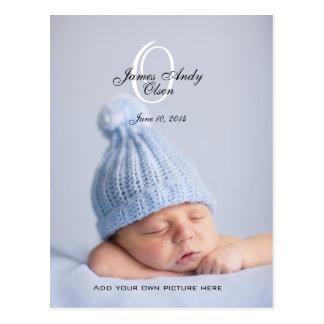 Baby Birth Announcement Photo Postcards