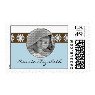 Baby Birth Announcement Postage Baby Blue