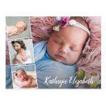 Baby Birth Announcement & Thank You Photo Collage Postcard