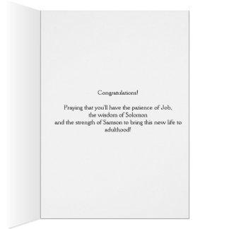 Baby birth congratulation card