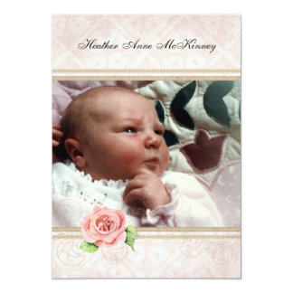 """Baby Birth,Girl Announcement - Our Little Princess 5"""" X 7"""" Invitation Card"""