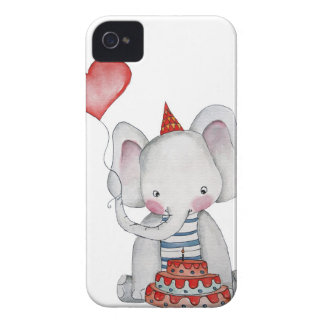 Baby Birthday Elephant BlackBerry Case