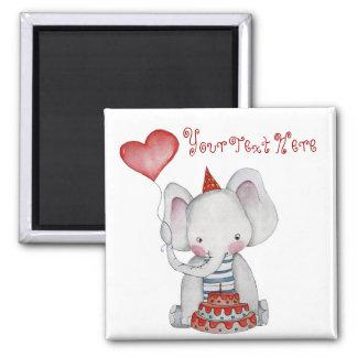 Baby Birthday Elephant Magnet