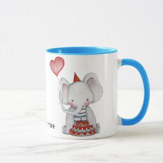 Baby Birthday Elephant Mug