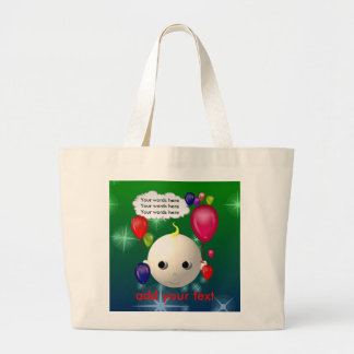 Baby Birthday Large Tote Bag