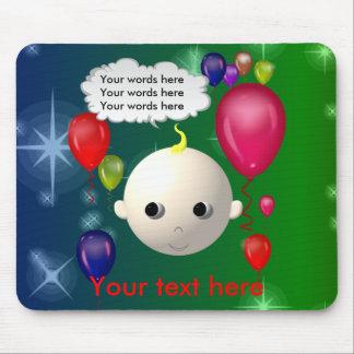 Baby Birthday Mouse Pad