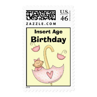 Baby Birthday Postage Stamps